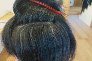 長野市で、白髪を減らす考え方の説明